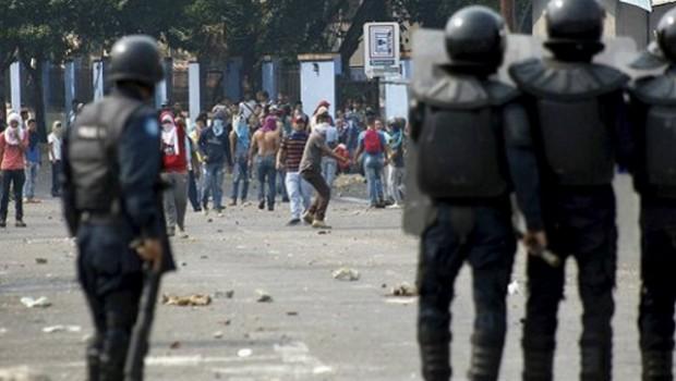 protestas venezuela policia