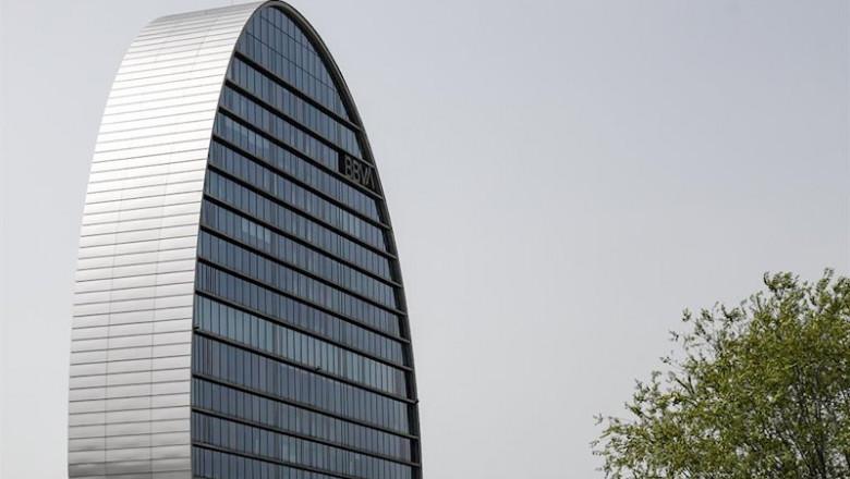 ep la ciudad bbva compuesta por siete edificios que alberga la sede de la entidad bancaria espanola