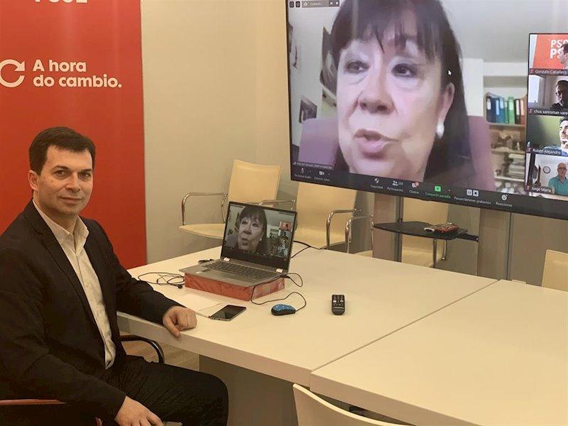 """Caballero (PSdeG) posiciona a su partido como """"el motor del cambio"""" en Galicia para """"proteger a las personas"""""""