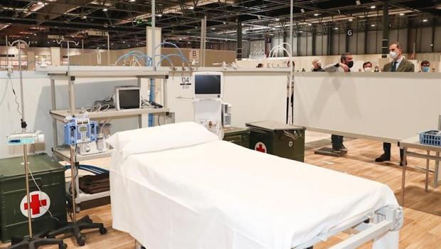 ep una de las camas del hospital de campana habilitado en feria de madrid ifema para atender a