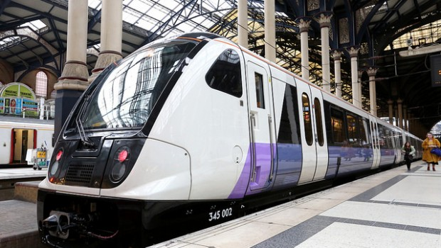 train transport rail crossrail london