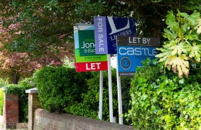 for sale signs house prices property housing