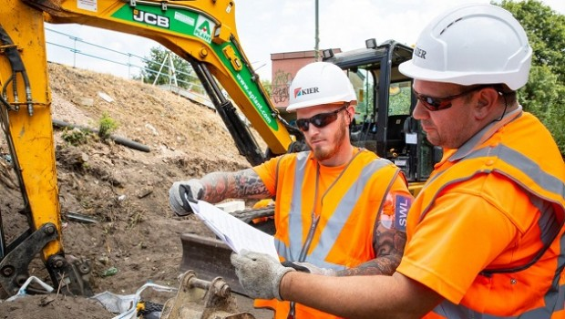 kier group workers jcb
