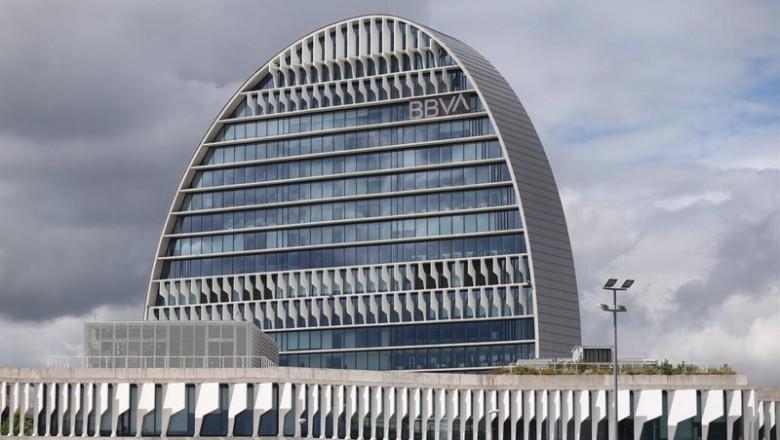 ep archivo   edificio de la sede de bbva en madrid conocido como la vela a 22 de abril de 2021 en