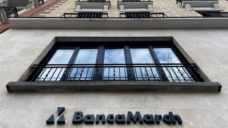 ep fachada exterior de un local de banca march en madrid espana a 13 de febrero de 2020