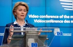 ep ursula von der leyen en una rueda de prensa en bruselas