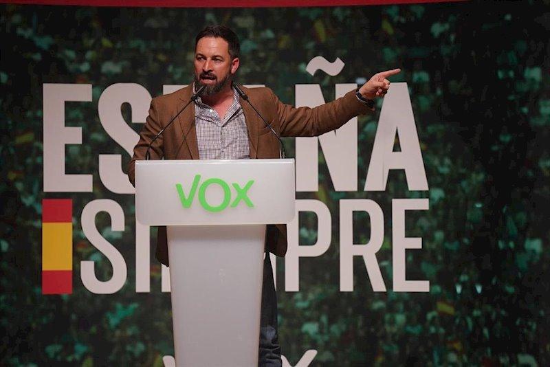 ep el presidente de vox santiago abascal durante un acto de vox en bilbao a 20 de octubre de 2019