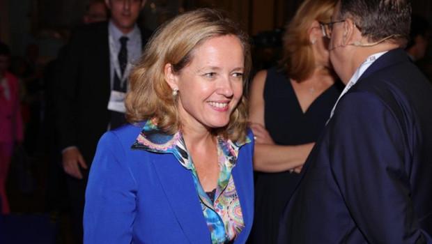 ep la ministra en funciones de economia y empresa del gobierno en espana nadia calvino en la
