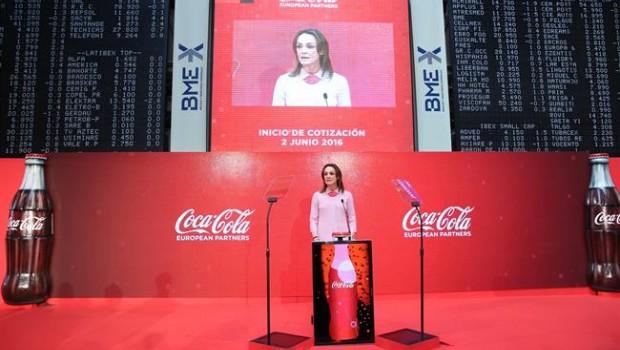 sol daurella la presidenta de coca-cola european partners en la salida a bolsa