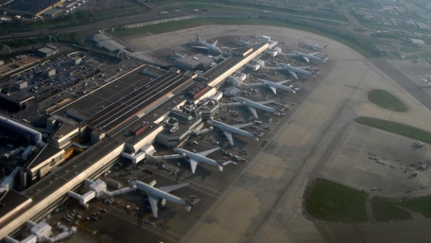 london heathrow airport terminal 4 aerial view