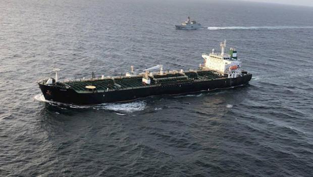 ep petrolero irani fortune a su llegada a venezuela con un cargamento de gasolina