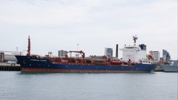 James Fisher & Sons MV Cumbrian Fisher oil/chemical tanker, shipping