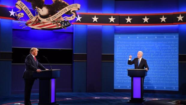 ep donald trump y joe biden en el segundo debate presidencial