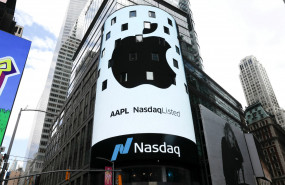 pantalla-muestra-logo-apple-edificio-nasdaq