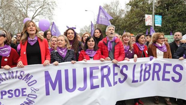 ep la esposa del presidente del gobierno begona gomez en la manifestacion del 8m en madrid