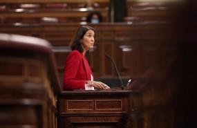 ep la ministra de turismo reyes maroto interviene durante una sesion plenaria en el congreso de los