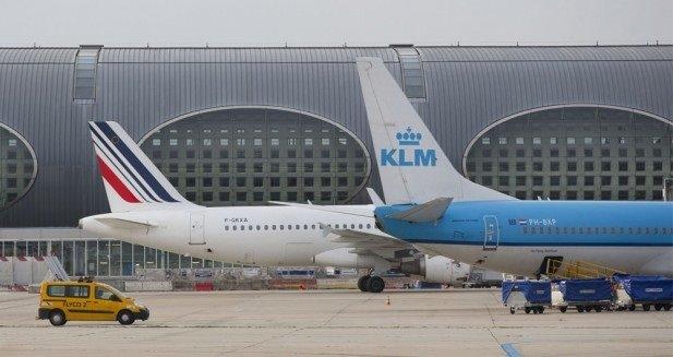 ep aviones de air france y klm