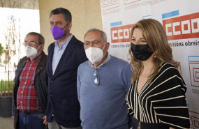 ep el sindicalista angel cameselle el secretario xeral de ccoo en galicia ramon sarmiento el