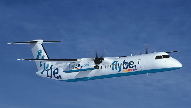 Flybe Bombardier Q400 turboprop aircraft, air travel, transport