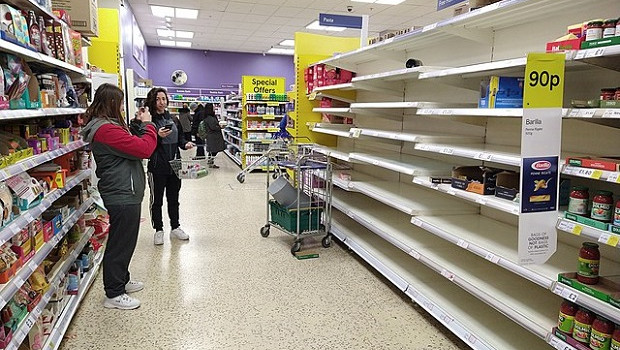 shortages at tesco, finchley, london