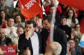 ep i-d el candidato del partido socialista gallego psg a la xunta de galicia emocionado gonzalo