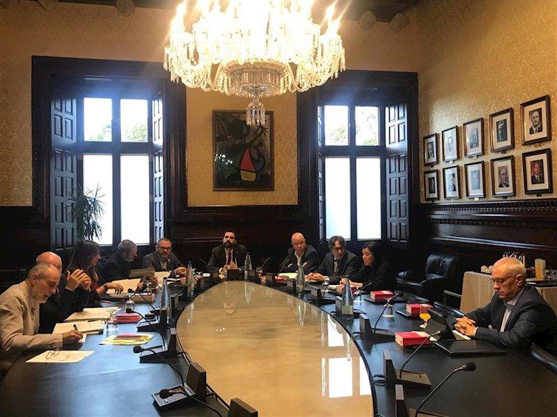 ep reunion de la mesa del parlament el 22 de octubre de 2019
