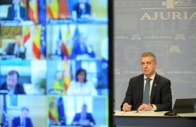 ep el lehendakari inigo urkullu en la videoconferencia de presidentes autonomicos
